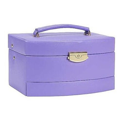 Budd Leather - Leather Large Auto Open Jewel Box, Purple - Leather Large Auto Open Jewel Bo, Purple