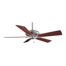 """Minka Aire - 52"""" Supra 5 Blade Ceiling Fan - In multiple finishes, the Supra 52' offers decorative versatility. It has clean, modern styling and uncompromising quality with superior performance. Energy Star compliance means it will impress in both appearance and energy conservation. Features: -Ceiling fan.-14 Degree blade pitch.-Five blades.-Quick connect detachable switch cup.-Universal light kit adaptable (sold separately).-Energy star compliant.-Motor size: 188 mm x 15 mm.-RPM high is 181, low is 54.-Supra collection.-NOTE: Ceiling Fans are not universal. Warranty is void if products from two different manufacturers are combined.Energy Guide Information:.-Collection: Supra.-Distressed: No.Specifications: -Product Air Flow: 5995.05 Cubic Feet Per Minute.-Electrical Usage: 75.3 Watts.-Air Flow Efficiency: 79.62 Cubic Feet Per Minute Per Watt.Dimensions: -3.5' and 6' Downrods (uses 0.75' I.D. DR5 series downrod).-80' Lead wire.-Hanging weight: 21 lbs.-Overall dimensions: 13' - 15.5' H x 52' W, depending on downrod.-Overall Product Weight: 25 lbs..Warranty: -Limited lifetime warranty."""