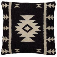 One Kings Lane - The Cozy Cabin - Southwest 18x18 Wool-Blend Pillow, Black
