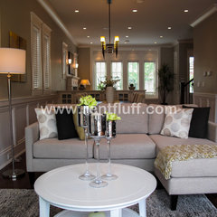 contemporary family room by Fluff Designs & Decor