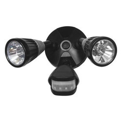 GE - GE Flood Lights. Outdoor Black LED Motion-Sensing Spot Light - Shop for Lighting & Fans at The Home Depot. Easily position lighting where it is needed and save on energy costs and maintenance with this motion-activated security light. You can create a variety of lighting applications by simply adjusting the angle of the lights. It's perfect for entry doors, sides of houses, walkways, sheds, driveways, detached garages and more.
