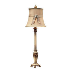Dimond Lighting - 93-10001-LED Syracuse Table Lamp, Sussex Stone with Gold - Traditional Table Lamp in Sussex Stone with Gold from the Syracuse Collection by Dimond Lighting.