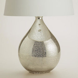 Martina Aged Mirror Table Lamp Base -
