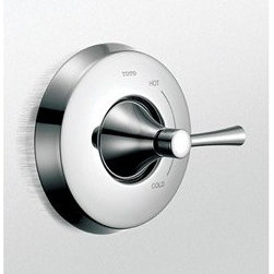 Toto - TOTO Nexus(R) Pressure Balance Valve Trim without Diverter - The TOTO Nexus(R) Pressure Balance Valve Trim without Diverter features a lever handle and is ADA compliant. When used in conjunction with the appropriate pressure balance valve rough, the TOTO Nexus(R) Pressure Balance Valve Trim without Diverter maintains your desired water temperature and helps prevent scalding by compensating for pressure fluctuations.A Trim Kit is the perfect choice for a hassle-free faucet upgrade or replacement without the added cost of new hardware. Includes only the exterior elements. Valves and plumbing not included. Also available with diverter. Features & Specs REQUIRES pressure balance valve TSPTR Lever handle ADA Compliant Lifetime Limited Warranty (Residential Use), One Year (Commercial Use) View Spec Sheet