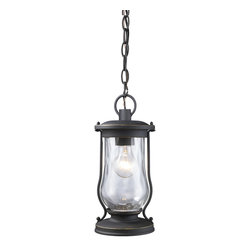 Elk Lighting - Elk Lighting 43017/1 Farmstead 1-Light Outdoor Pendant in Matte Black - Farmstead 1-Light Outdoor Pendant in Matte Black belongs to Farmstead Collection by Elk Lighting Lanterns Have Been Widely Used For Portable Lighting For Hundreds Of Years Until The Time Electricity Reached Rural Farming Areas.  Its Simple Design And Function Made It One Of The Most Practical And Widely Used Devices In History.  This Series Carries On This Historic Design Style With Clear Water Glass And Period, Authentic Matte Black Finish.  Pendant (1)