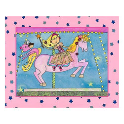 Oh How Cute Kids by Serena Bowman - Fairy Merry Go Round, Ready To Hang Canvas Kid's Wall Decor, 8 X 10 - Part of my Fairy Tale Princess series. So far as I can remember we have Sleeping beauty, Cinderella, Alice in wonderland, Rapunzel, Princess and the Pea and probably a couple more that I am forgetting!  Each are sold separately but coordinates with everything in the series for an easy fun room decor!