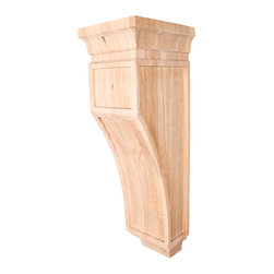 Hardware Resources - Cherry Mission Corbels - Mission Style Corbel 6-3/4In. X 7-3/4In. X 22In. Species: Cherry