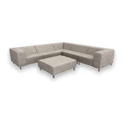 Viesso - Nein Modular Sectional 1 (Custom) - A model of minimalism. The beauty of this sectional sofa is the function of the design and placing multiple pieces together to form an everchanging configuration. This modern sofa, with extremely clean lines, gives you modular flexibility.