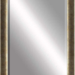 Paragon Decor - Beveled Mirror, Tarnished Gold,24x36 - Mirror, Mirror, on the wall, who's the most beautiful mirror of them all? Reflect your impeccable taste with this traditional-style mirror, which features a gorgeous tarnished gold frame and high-quality interior beveled mirror. This piece measures 30 inches wide, 2 inches deep, and 42 inches high.