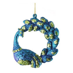 Divine Regal Peacock With Deluxe Curved Tail Christmas Ornament - Here is an awesome peacock ornament. You can just buy one or two of these if you are on a budget.
