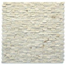 Modern Fauve 12 in. x 12 in. Marble Natural Stone Mosaic Wall Tile (10 sq. ft./C