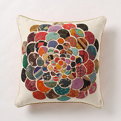 Anthropologie - Orimono Pillow, Flower - This is a beautiful Japanese-inspired pillow. The fabric colors on top of the cotton canvas make it a great choice for earth-toned rooms.