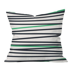 DENY Designs - Khristian A Howell Crew Stripe Cool Throw Pillow - Wanna transform a serious room into a fun, inviting space? Looking to complete a room full of solids with a unique print? Need to add a pop of color to your dull, lackluster space? Accomplish all of the above with one simple, yet powerful home accessory we like to call the DENY throw pillow collection! Custom printed in the USA for every order.