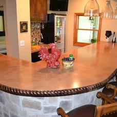 Traditional Kitchen Countertops by Customcrete, Inc.