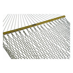 None - Presidential Size Cotton Rope Hammock - Kick back and relax in this classic Presidential Size rope hammockOutdoor furniture is extra largeHammock swing is made of cotton rope