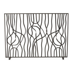 Arteriors - Gautier Screen - This forged natural iron screen resembling freeform ribbons is hand crafted using old world metalwork techniques. Due to the individually hand-twisted bars, no two are identical. Decorative use only.