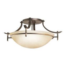Kichler - Kichler 3606OZ Olympia 3 Light Semi-Flush Indoor Ceiling Fixture - Product Features: