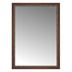 """Posters 2 Prints, LLC - 49"""" x 67"""" Malabar Walnut Custom Framed Mirror - 49"""" x 67"""" Custom Framed Mirror made by Posters 2 Prints. Standard glass with unrivaled selection of crafted mirror frames.  Protected with category II safety backing to keep glass fragments together should the mirror be accidentally broken.  Safe arrival guaranteed.  Made in the United States of America"""