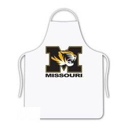 Sports Coverage - Missouri Tigers Tailgate Apron - Collegiate Missouri University Tigers White screen printed logo apron. Apron is 100% cotton twill with screenprinted logo. One Size fits all.