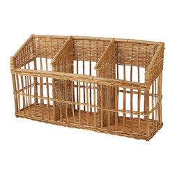 Eco Displayware - French Baguette Rattan Bin in Natural - Great for closet, bath, pantry, office or toy and game storage. Earth friendly. 46.5 in. L x 12 in. W x 27 in. H (54.79 lbs.)These natural colored baskets add warmth and charm and keep you organized.
