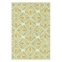 """Loloi Rugs - Loloi Rugs Tropez Collection - Ivory/Green, 3'-6"""" x 5'-6"""" - �Set the foundation for an island lifestyle with our Tropez Collection. Hand hooked in China of 100% polypropylene, Tropez features tropical inspired design with trending-now colors suited for outdoor living. Take a closer look (or zoom in), and you'll notice the use of mixed yarns that give Tropez a refined color blend. And like all of our indoor/outdoor rugs,Tropez is easy to clean and will withstand any rain or sunshine."""
