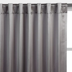 Z Gallerie - Duchess Panels - Dress your windows in glamorous style with our elegant steel Duchess Panels, and create a sumptuous room fit for royalty. Created exclusively for Z Gallerie, the panels are made of rich polyester with a satin sheen and are lined in pure cotton. Choose to hang them from a rod pocket opening for a gathered look or from back tabs for a pleated look. Each panel sold separately.