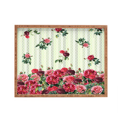 DENY Designs - Belle13 Vintage Rose Pattern Rectangular Tray - With DENY'S multifunctional rectangular tray collection, you can use it for decoration in just about any room of the house or go the traditional route to serve cocktails. Either way, you'll be the ever so stylish hostess with the mostess!