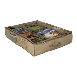 Richards Homewares - Richards Homewares Underbed 12-cell Shoe Chest and Cedar Inserts - Protect your shoes from dust,dirt and moisture with this 12-cell shoe chest from Richards Homewares. Complete with cedar inserts,this handy shoe storage chest is perfect for storing under the bed or in a closet for tidy,organized storage.