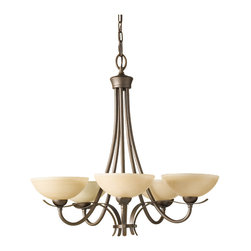Murray Feiss - Corinthian Bronze Kinsey 5 Light 1 Tier Chandelier - Lamping Technologies: