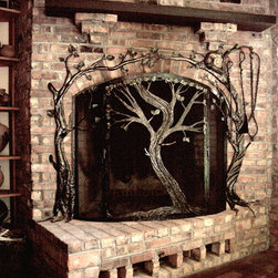 Fireplace tools and screens - Earth Eagle Forge