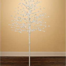 Sterling Tree Company - 6.5 ft. Pre-lit Medium Blossom Tree with White Lights - 92412021 - Shop for Holiday Ornaments and Decor from Hayneedle.com! The 6.5 ft. Pre-lit Medium Blossom Tree with White Lights can be easily installed indoors or out to create glowing almost magical ambience all year round. Featuring white twigs with lighted blossoms and a realistic white metal trunk this tree is easy to assemble and comes pre-lit with 240 white LED lights. Plug this tree in with the included 19.68-ft. power cord and 24 volt adapter and enjoy the warm white glow. About Twin-Star International Inc./ClassicFlame Twin-Star International Inc. a premium home furnishings manufacturer offers an extensive line of high-quality products ranging from classic traditional items to modern pieces that embrace global furnishing trends. Founded in 1996 Twin-Star employs top-of-the-line in-house designers and engineers to continually provide customers with the finest products. Twin-Star has world headquarters in Delray Beach FL with showrooms throughout North America.