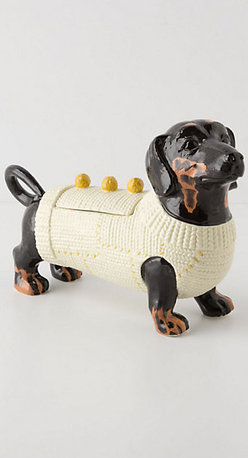 Sweater Pup Cookie Jar - This is the perfect cookie jar for the dog lover.