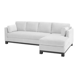 Apt2B - Avalon 2PC Sectional Sofa, White, Chaise on Left - This sleek, L-shaped sectional sofa will extend your seating and give you extra lounging room without eating up your whole space. The stylish design includes tapered arms, a solid wood base and one long seat cushion — so you can pile on the guests and no one will fall through the cracks.