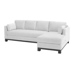 Avalon 2-piece Sectional Sofa, White, Chaise on Left