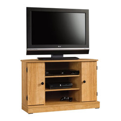 Sauder - Sauder Beginnings Corner TV Stand in Highland Oak - Sauder - TV Stands - 412996 -