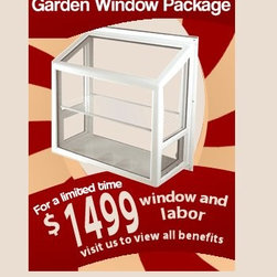 Milgard Vinyl Replacement Windows - This garden window is made from a name brand company and crafted with real quality in mind. It features all fusion welded-corners , Low-E insulated glass, and easy-opening side vents.