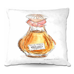 DiaNoche Designs - Pillow Woven Poplin - Chantilly Perfume - Toss this decorative pillow on any bed, sofa or chair, and add personality to your chic and stylish decor. Lay your head against your new art and relax! Made of woven Poly-Poplin.  Includes a cushy supportive pillow insert, zipped inside. Dye Sublimation printing adheres the ink to the material for long life and durability. Double Sided Print, Machine Washable, Product may vary slightly from image.