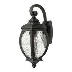 Hinkley Lighting - Hinkley Lighting 1940MB Forum 1 Light Outdoor Wall Lights in Museum Black - Forum's distinguished silhouette features cast aluminum construction in a French Bronze finish with decorative cast detailing and generous panels of seedy water glass.