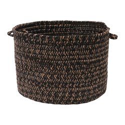 "Colonial Mills, Inc. - Hayward, Black Utility Basket, 18""X12"" - Way to stow! This utility basket, woven from a warm-textured wool blend, will keep clutter from getting underfoot. Its rich brown color and attractive style fit right in with virtually any decor."