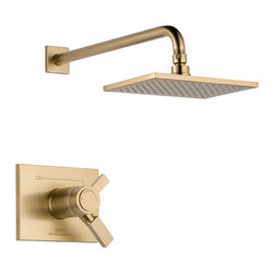 Delta TempAssure(R) 17T Series Shower Trim - T17T253-CZ - Inspired by slim lines and graceful arc of a ribbon, the Vero bath collection offers a high-end, modern look to the bath.