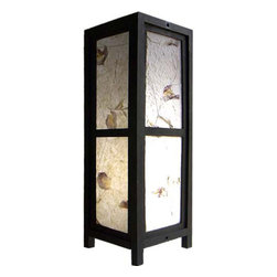 "Oriental-Decor - 15"" Pressed Flower Lamp - This simple and elegant decorative lamp is ideal for adding a soft light to any room while enhancing it with an Asian style. The shade of the lamp is made of real flowers pressed into saa paper to give it a natural and pleasing look. Place this magnificent lamp in any room for fine effect. Everything is included-a 110-volt electrical chord, socket and switch, and bulb. Some assembly required."