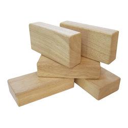 Guidecraft - Guidecraft 5 Pieces Hardwood Unit Block Set - Guidecraft - Wooden Play Sets - G7600 - 5 Pieces Block Set