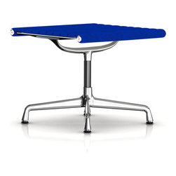 """Herman Miller - Herman Miller Eames Aluminum Ottoman, Fabric - Herman Miller Eames Aluminum Group Ottoman, Fabric  by Charles and Ray Eames This Eames Aluminum Group Ottoman is the perfect addition to your Eames Aluminum Group Chair, particularly the Lounge Chair. This upholstered ottoman is the perfect match with its lightweight, polished aluminum frame and 1/2"""" glides for hard floors or carpet. Available in a variety of fabric upholstery options for a stylish and more affordable piece.18.25""""H x 21""""W x 21.5""""DSee the entire Eames Aluminum Chair Group."""