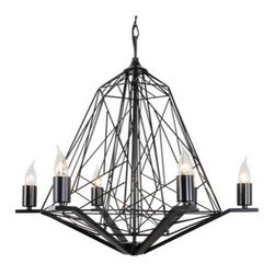 Varaluz - Varaluz 237C06 Wright Stuff 6 Light Chandelier - Features: