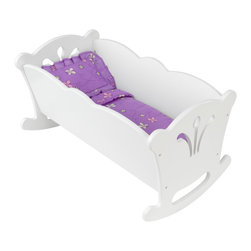 KidKraft - Lil' Doll Cradle - White by Kidkraft - With scalloped trim and filigree cutouts, KidKraft's rocking Lil Doll Cradle is the perfect resting place for every little girl's baby.