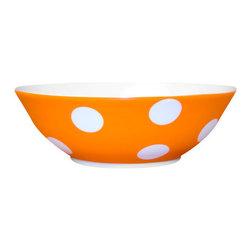 Sabre Paris - Sabre Paris Porcelain Polka Dot Cereal Bowl, Orange - Qualifies for free shipping and free returns. 100% Satisfaction Guaranteed.