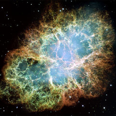 eclectic artwork Hubble Crab Nebula