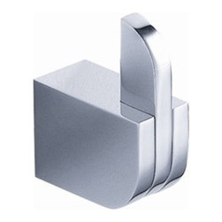 """Fresca - Fresca Solido Robe Hook - Chrome - Add a modern touch to your bathroom with the Fresca Solido Robe Hook in Chrome, part # FAC1301. Its contemporary, minimalist design features a barrel-shaped mounting with a flat, inset bar that acts as the hook. Made of durable 100 percent brass, this 1""""W x 1 1/2""""D x 2 """"H bathroom robe hook will resist rusting and corroding in damp environments. A sleek triple chrome finish makes this hook look as good in the kitchen or entry way as it does in the powder room."""