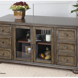 "24271 Corelli, Media Console by uttermost - Get 10% discount on your first order. Coupon code: ""houzz"". Order today."