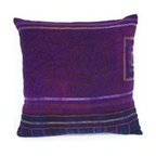 Throw Pillows - This beautiful vintage textile was once part of a garment worn by Hmong women in Vietnam. The Hmong, an Asian ethnic group living in the mountainous regions of Vietnam and Laos, are known for their traditional textiles which feature cross-stitching and often indigo block printing. They have been given a second life and were re-cycled to make these lovely pillows.